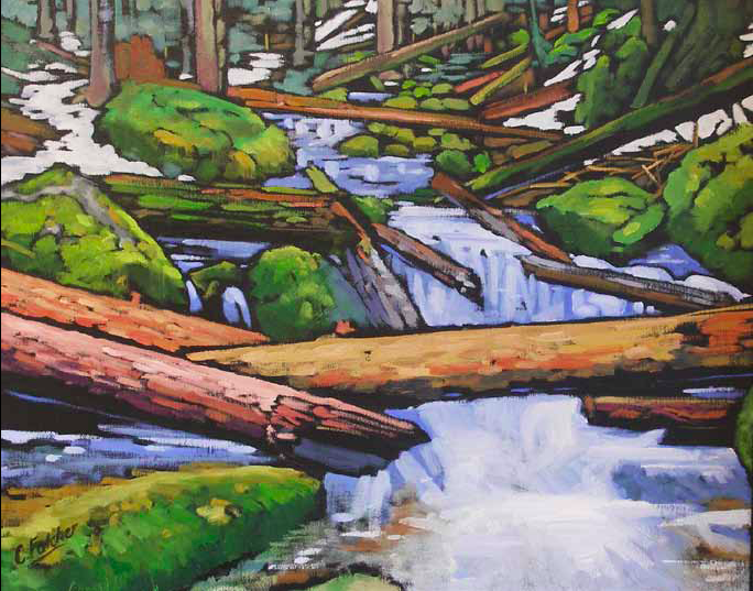 """A Spring Crossing"" 24 x 30 Oil on canvas $3,000"