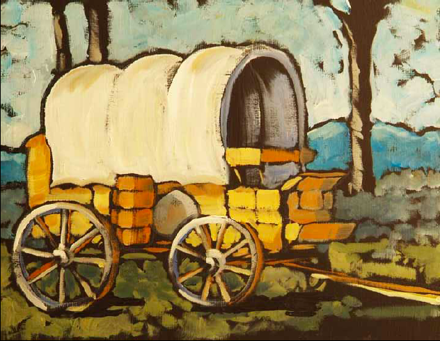 """Dinner Wagon"" 8 x 10 Oil on canvas $400"
