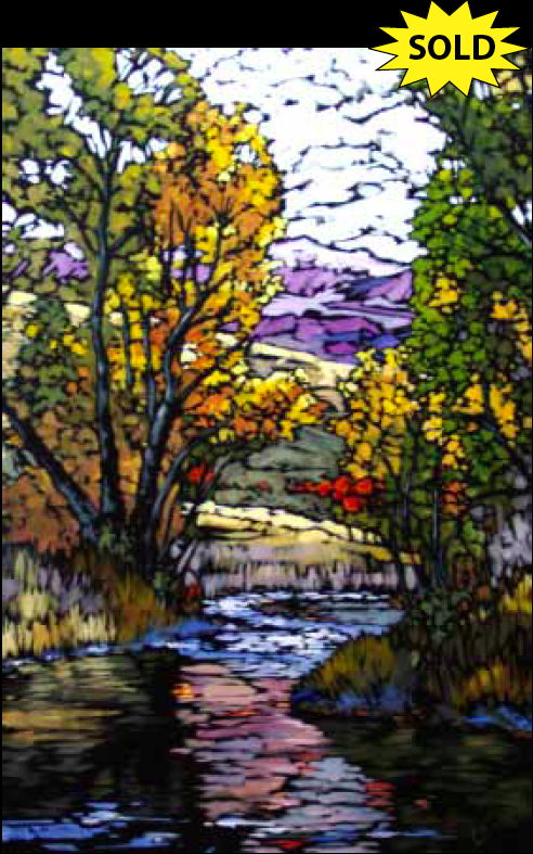 """Emily Creek"" 24 x 36 Oil on canvas"