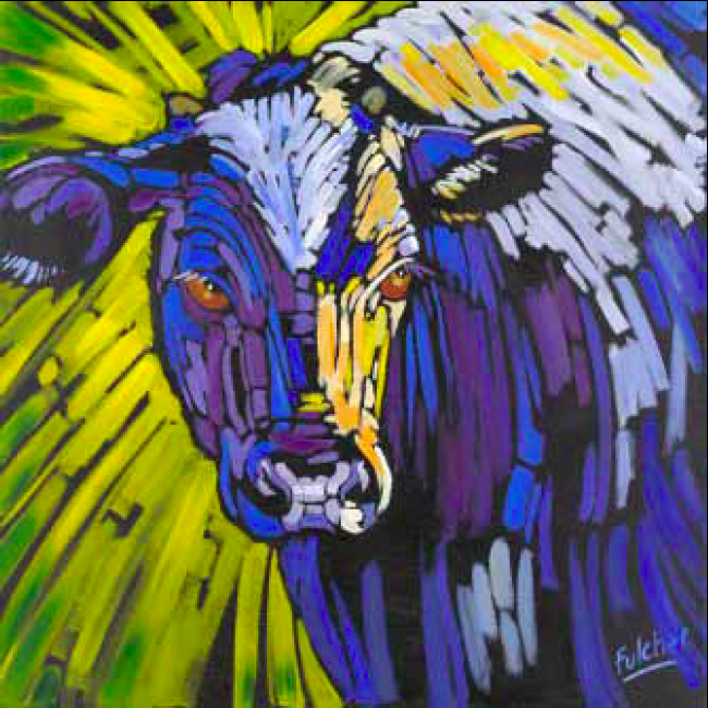 """That's A-mooor'e"" 30 x 30 Oil on canvas $3,825"